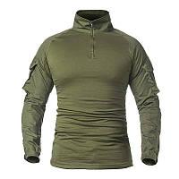 Тактическая рубашка Lesko A655 Green S мужская милитари с длинным рукавом камуфляж армейская, фото 1