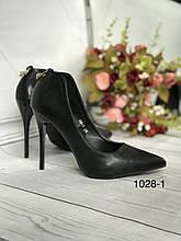 Чорні туфлі жіночі 35 розмір
