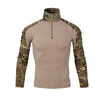 Тактическая рубашка Lesko A655 Camouflage S мужская милитари с длинным рукавом камуфляж армейская