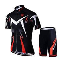 Костюм вело X-Тiger XM-DT-01301 Shorts Red L футболка короткий рукав шорты, фото 1
