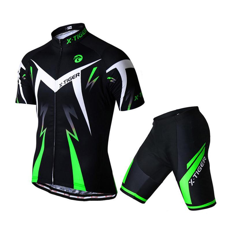 Костюм вело X-Тiger XM-DT-01301 Shorts Green 3XL короткий рукав шорты