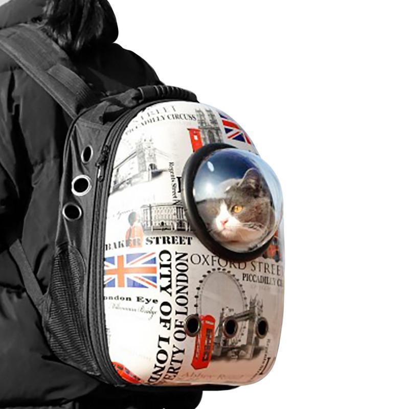 Рюкзак-переноска для кішок Taotaopets Window London котів собак з ілюмінатором