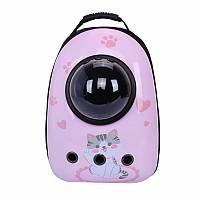 Рюкзак-переноска для кошек Taotaopets Window Pink Cat кошек собак с иллюминатором, фото 1