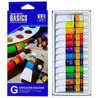 Краска гуашевая Basics набор 12цв. по 12мл EG1212C-2