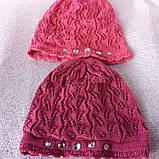 Весенняя ажурная шапочка  для девочки, фото 2