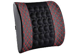 Подушка массажер для автомобиля Teaeg 2 уровня вибрации  Черный с красным