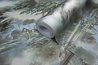 Обои для стен в спальню, Обои горячего тиснения LS Сад Декор мятный ЭШТ 3-1462 (1,06х10,05м)