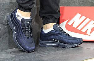Кроссовки мужские Nike air max 97,темно синие,сетка 43,44р, фото 2