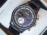 Мужские механические наручные часы Zenith на кожаном ремешке со всеми работающими (активными) циферблатами, фото 1