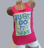 """Женская майка """"борцовка"""" Nike (1157) розовая код 25д"""
