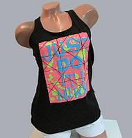 "Женская майка ""борцовка"" Nike (1157) черная код 26д"