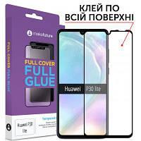 Скло захисне MakeFuture для Huawei P30 Lite Black Full Cover Full Glue (MGF-HUP30L)