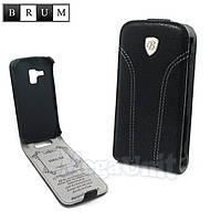 Brum Premium Кожаный чехол для Samsung Galaxy S duos S7562 / S7580 (No.31 black)