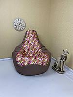 Кресло мешок-груша, коричневое размер L, XL, XXL