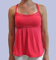 Майка женская коралловая Adidas (009623) код 53д