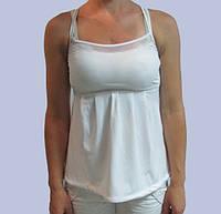 Майка женская белая  Adidas (009623)  код 54д
