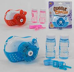 Детская установка для мыльных пузырей с подсветкой и музыкой Фотокамера  MY 121 Y-2