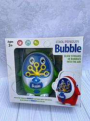 Детская установка для мыльных пузырей с запаской Пингвин 119524 (зеленый)