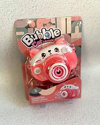 Детская установка Фотокамера для мыльных пузырей c запаской Котик 889-21/22