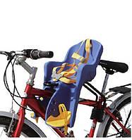 Детское кресло для велосипеда Велокресло детское до 3-х лет Сиденье в велосипед с ремнями безопасности