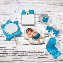 Цукрова прикраса для торта Набір для малюка (для хлопчика)