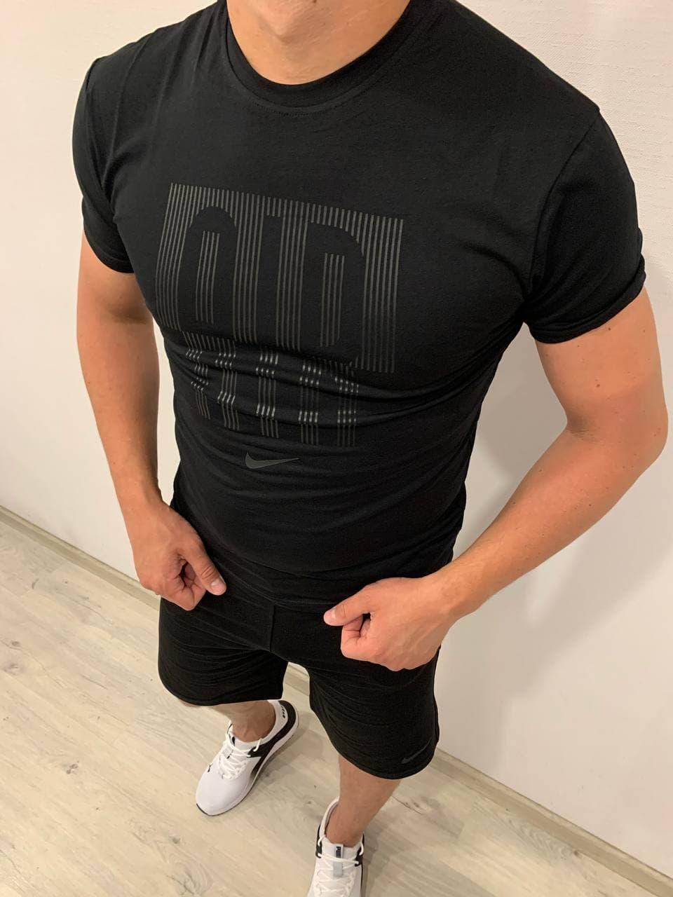 Мужской спортивный костюм (футболка и шорты) Nike Air Black