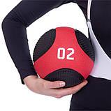 Мяч медицинский медбол Medicine Ball FI-2824-2 2кг, фото 4