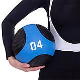Мяч медицинский медбол Medicine Ball FI-2824-4 4кг, фото 4