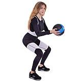 Мяч медицинский медбол Medicine Ball FI-2824-4 4кг, фото 6