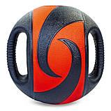 Мяч медицинский медбол с двумя рукоятками Record Medicine Ball FI-5111-8 8кг, фото 2