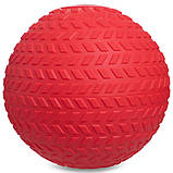 М'яч набивної слембол для кроссфіта рифлений Record SLAM BALL FI-5729-2 2 кг, фото 2