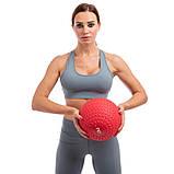 М'яч набивної слембол для кроссфіта рифлений Record SLAM BALL FI-5729-2 2 кг, фото 5