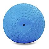 Мяч набивной слэмбол для кроссфита рифленый Record SLAM BALL FI-5729-5 5кг, фото 2