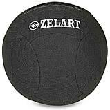 Мяч для кроссфита набивной в кевларовой оболочке 5кг Zelart WALL BALL, фото 5