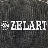 М'яч для кроссфіта набивної в кевларовой оболонці 9кг Zelart WALL BALL, фото 4
