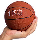 М'яч медичний медбол Record Medicine Ball SC-8407-1 1кг, фото 4