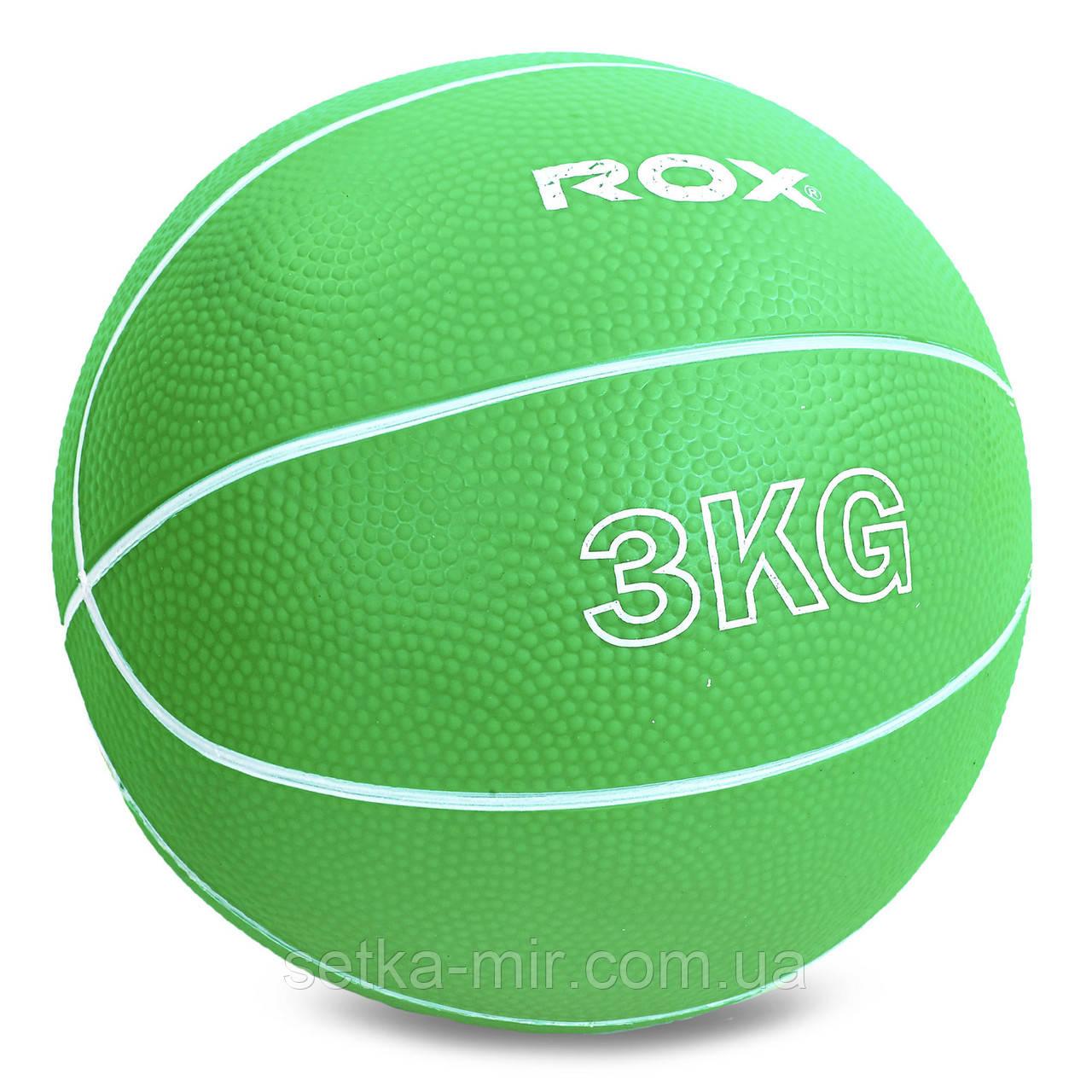 М'яч медичний медбол Record Medicine Ball SC-8407-3 3 кг