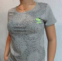 Футболка женская серая  Adidas (8407) код 117д