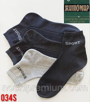 Шкарпетки чоловічі бавовна з сіткою середні Житомир, розмір 41-45, асорті, 034-011