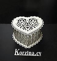 Подарочная коробка сердце - Ажурное сердечко!