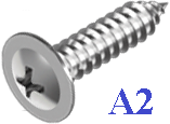 Шуруп с прессшайбой острый 4.2Х25 нержавеющий А2 (1000 шт)