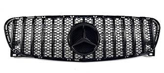 Решетка радиатора Mercedes GLA X156 (14-17) стиль GT Panamericana (черный глянц)