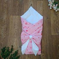 Конверт на выписку, летний конверт-одеяло, конверт для новорожденного