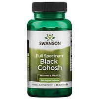 Клопогон кистевидный, Swanson, Black Cohosh, 540 мг, 60 капсул