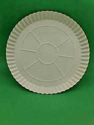 Тарелка бумажная под пиццу 300мм белая 100 шт