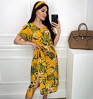 Яркое летнее платье с цветочным принтом