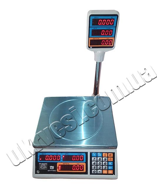 Весы торговые ВТЕ-Центровес-15Т2-ДВ-(СВ) - УкрВесы