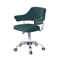 Кресло офисное JEFF CH- OFFICE бархат ,ЗЕЛЕНЫЙ B-1003