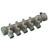 Коллектор 5-way с шаровыми кранами KOER K0172.PRO - 40x20 PPR