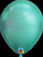 """Куля 11"""" (28 см) Qualatex хром GREEN (зелений) 50 од."""